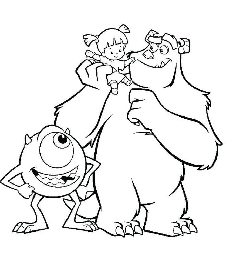 Monster Inc Coloring Pages To Print