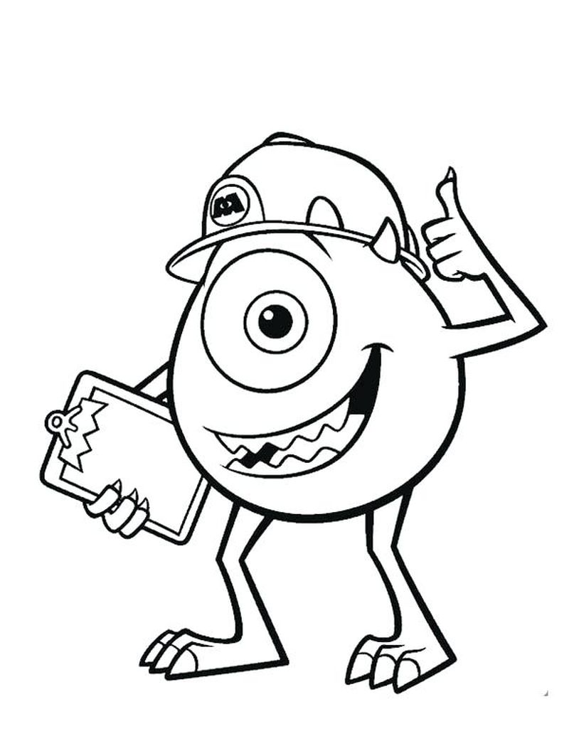 Monster Inc Colouring Pages
