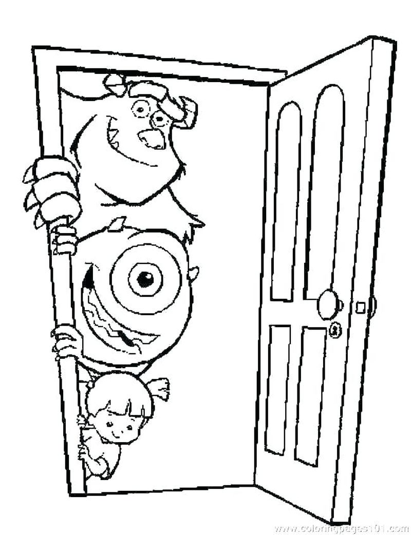 Monster Inc Free Coloring Pages