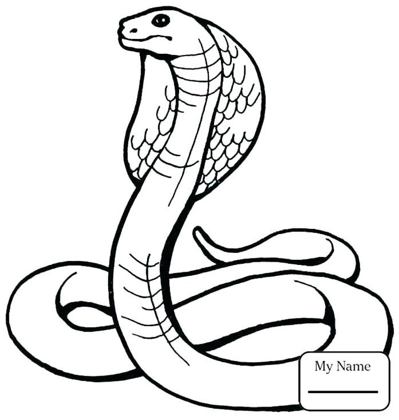Monster Snake Coloring Page