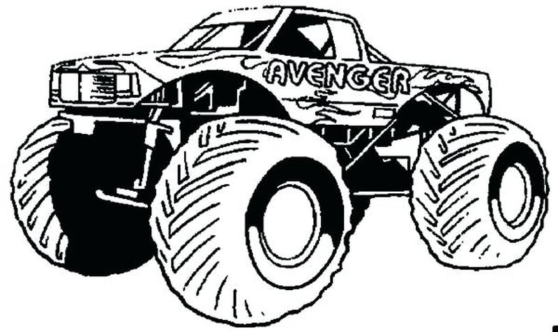 Monster Truck Coloring Pages 1