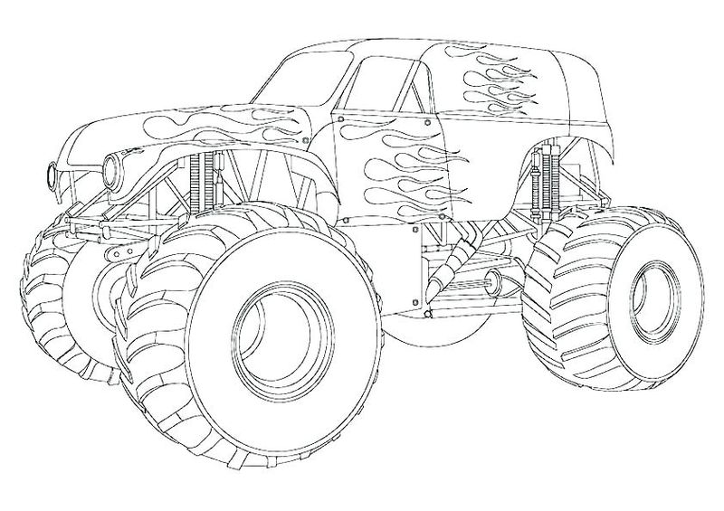 Monster Truck Coloring Pages Easy