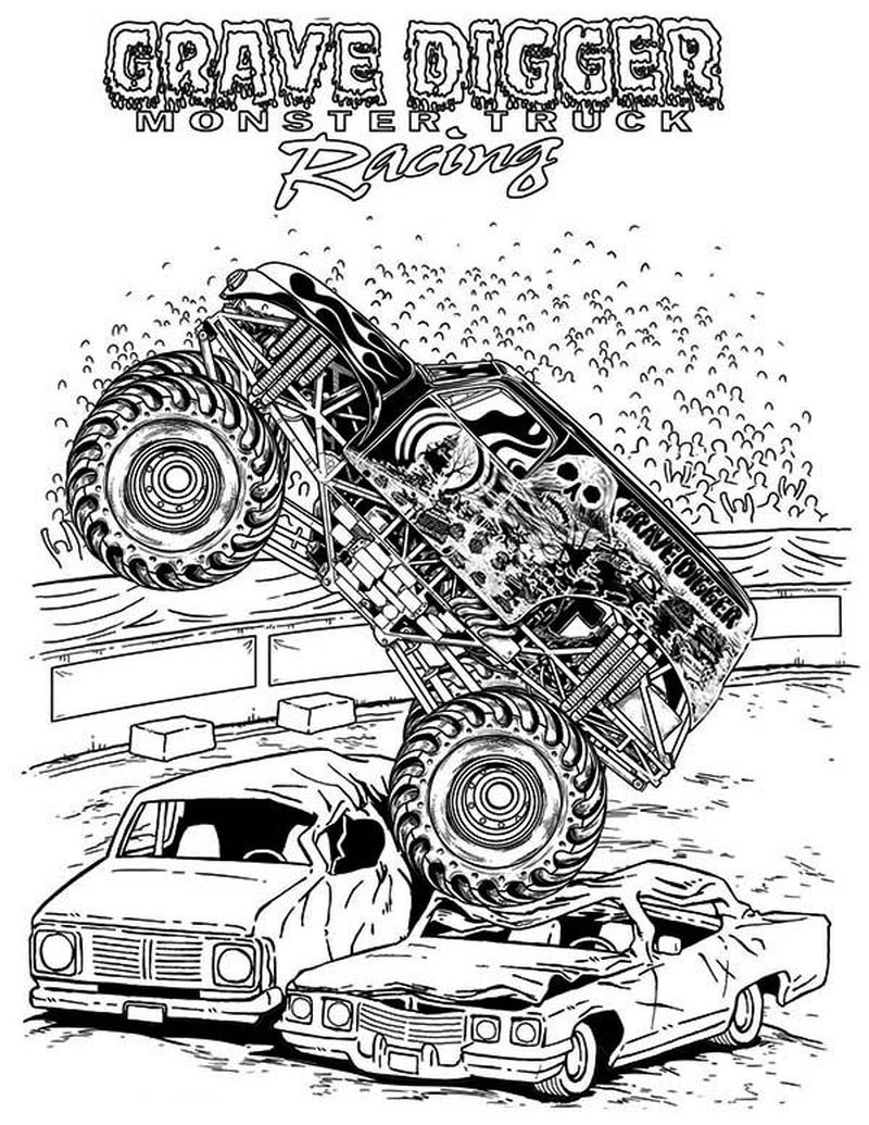 Monster Truck Coloring Pages For Adults