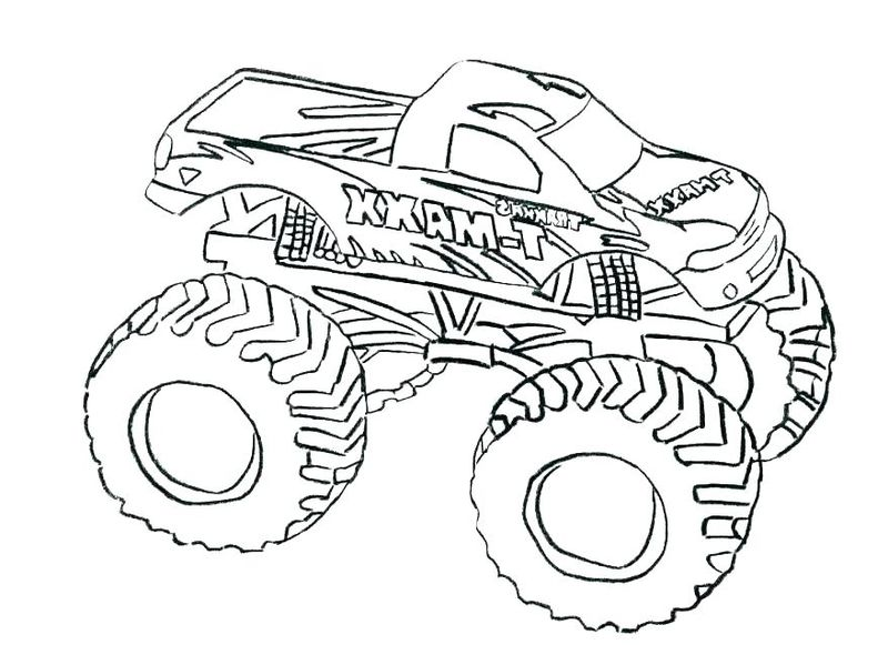 Monster Truck Coloring Pages For Kindergarten
