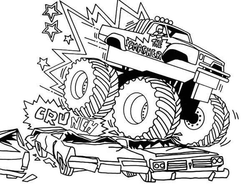 Monster Truck Colouring Pages Printable