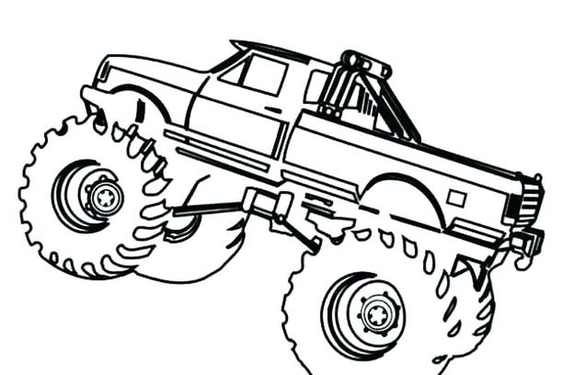 Monster Truck Colouring Pages