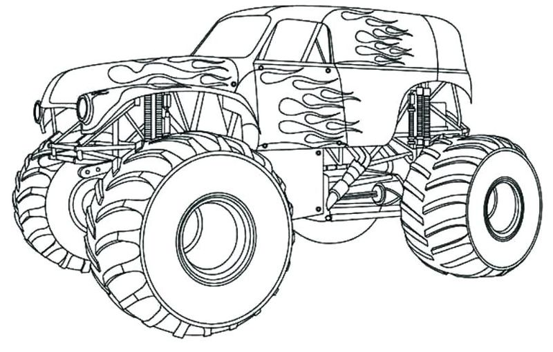 Monster Trucks Coloring Pages Printable
