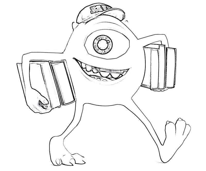 Monsters Inc Coloring Page