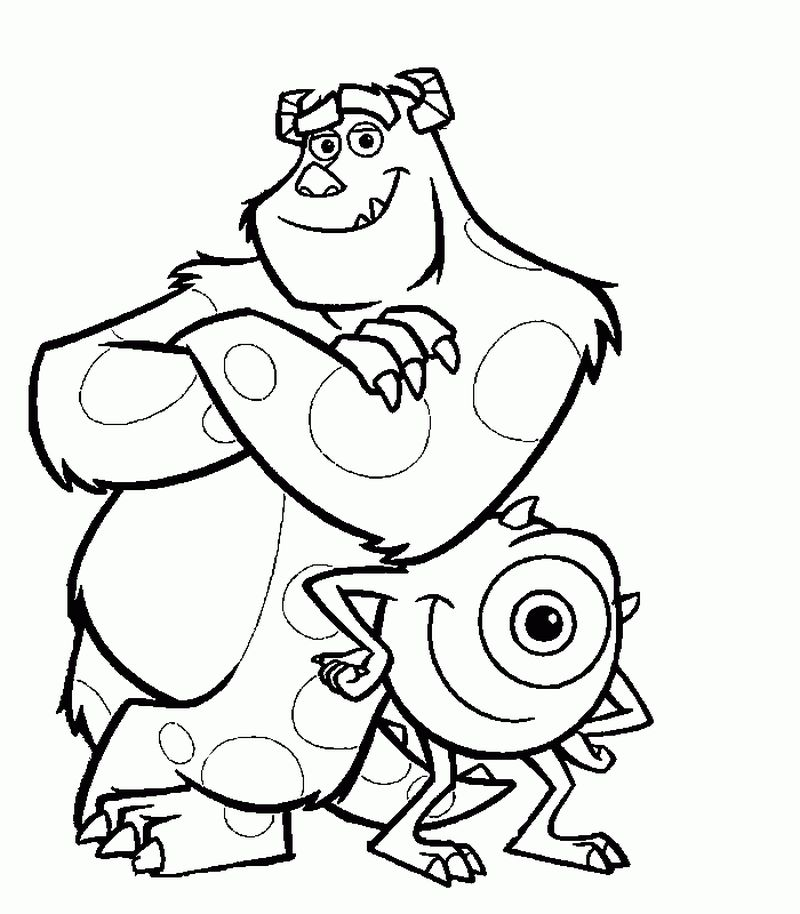 Monsters Inc Coloring Sheets