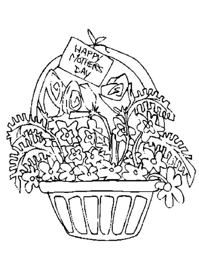 Mothers Day Coloring Page For Grandma