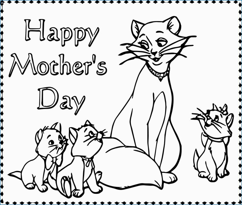 Mothers Day Coloring Page For Mom