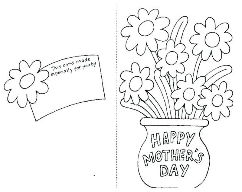 Mothers Day Coloring Page For Mother