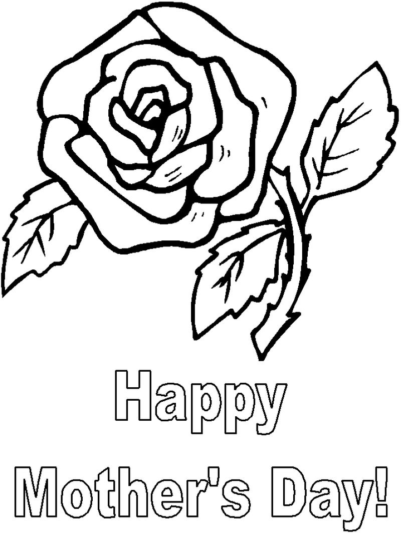 Mothers Day Coloring Page For Preschool
