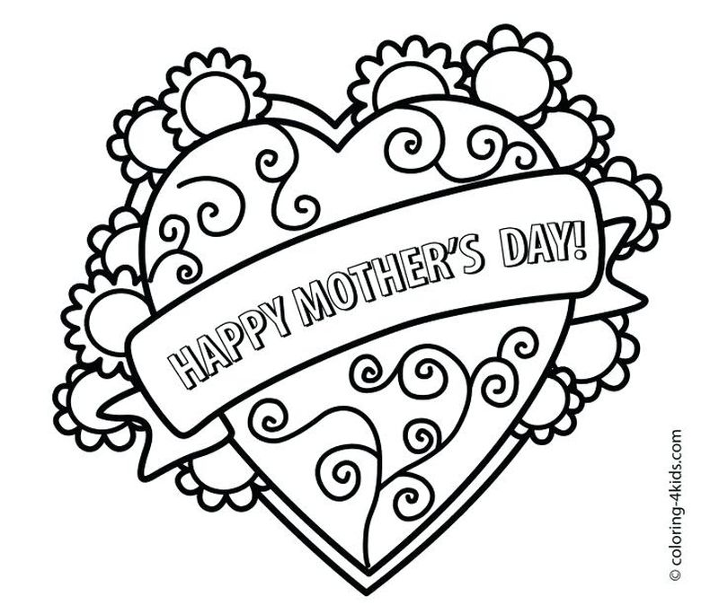 Mothers Day Coloring Page Lds