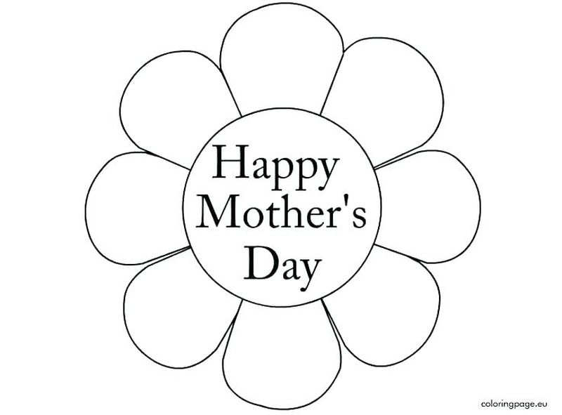 Mothers Day Coloring Page Pdf
