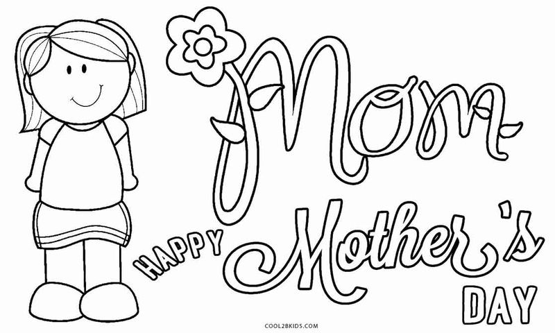 Mothers Day Coloring Page Preschool