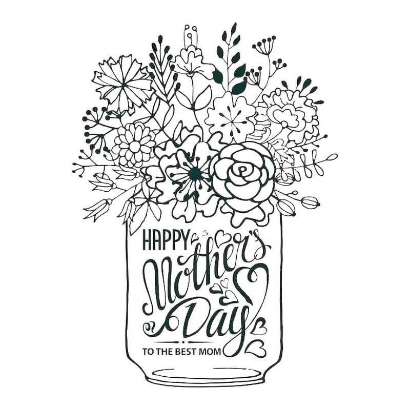 Mothers Day Coloring Pages Cards