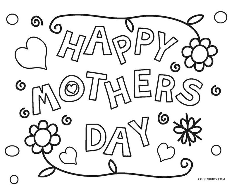 Mothers Day Coloring Pages For Kindergarten