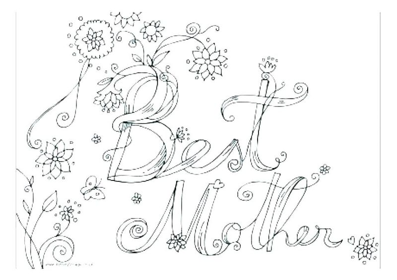 Mothers Day Free Coloring Page