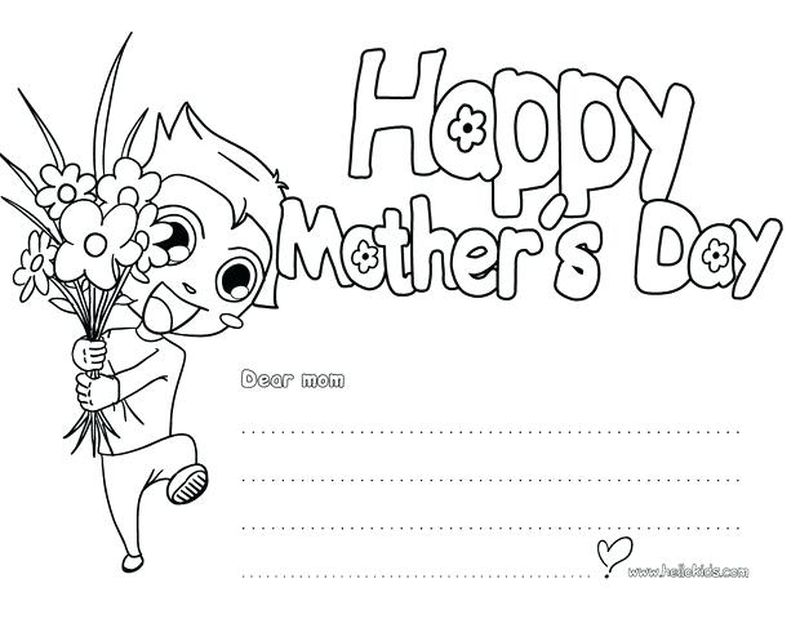 Mothers Day Gift Coloring Page