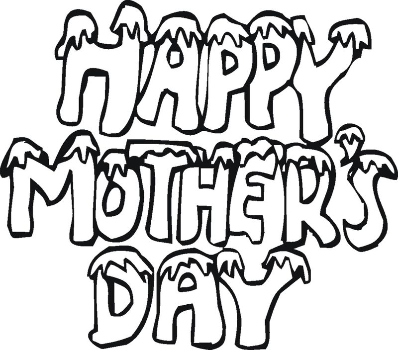 Mothers Day Heart Coloring Page