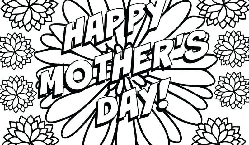 Mothers Day Poem Coloring Page