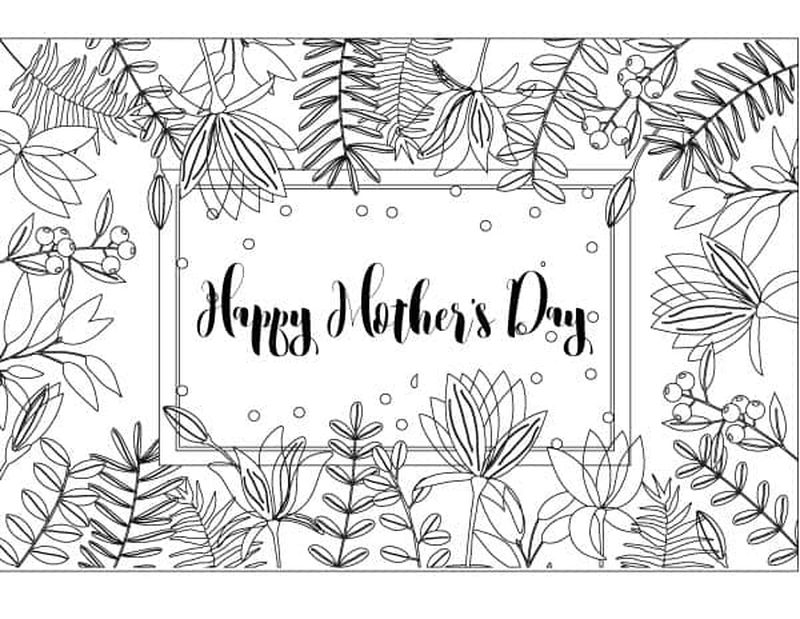 Mothers Day Pusheen Coloring Pages