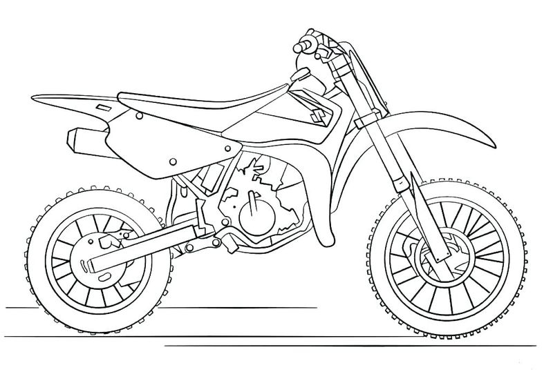 Motorcycle Coloring Book Pages