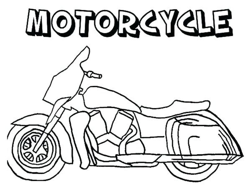 Motorcycle Coloring Pages Easy