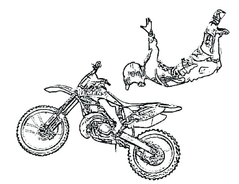 Motorcycle Coloring Pages For Kindergarten