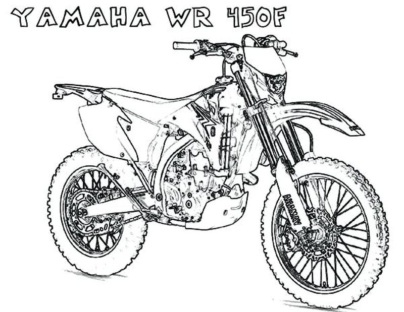Motorcycle Coloring Pages Free pdf