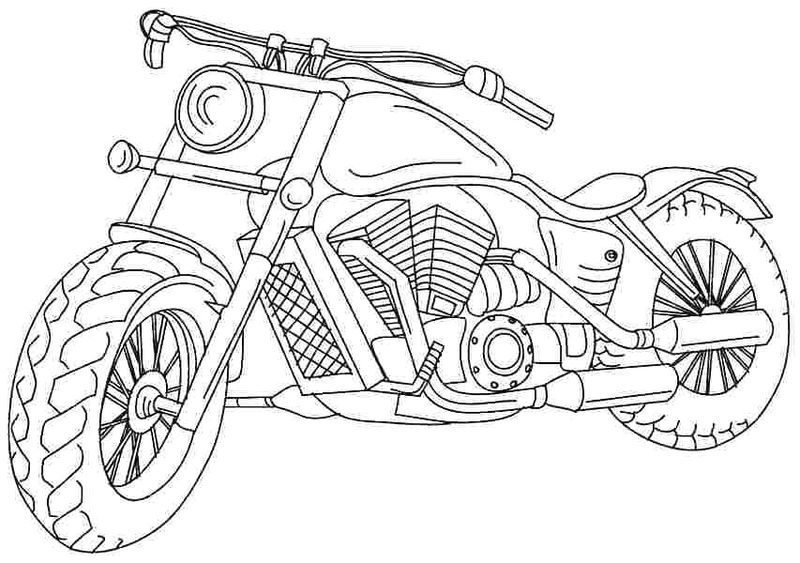 Motorcycle Coloring Pages Online pdf