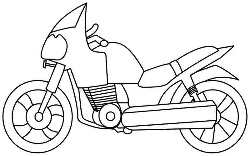 Motorcycle Coloring Pages Pdf free