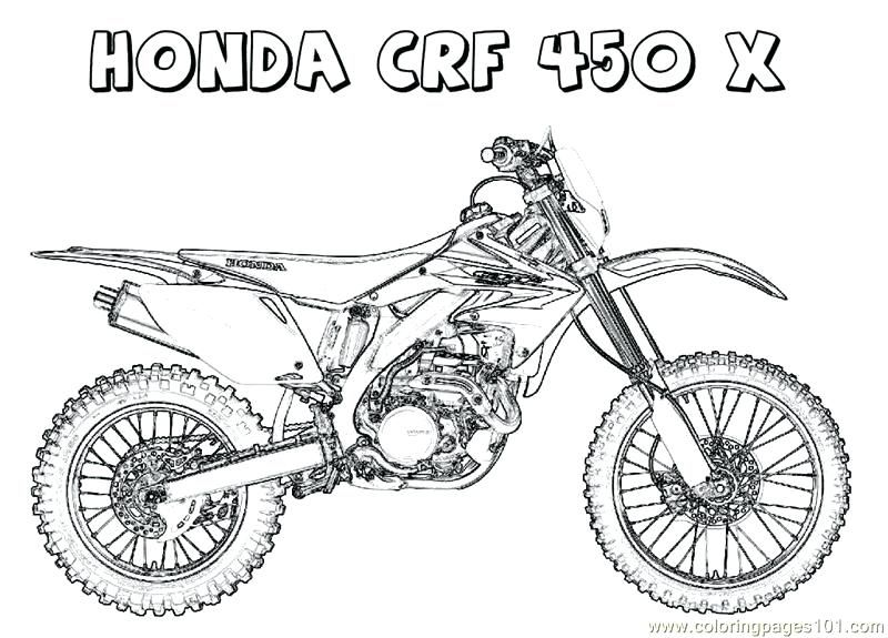 Motorcycle Coloring Pages Printable Free