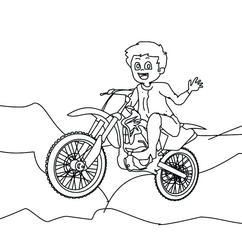 Motorcycle Coloring Pages Printable