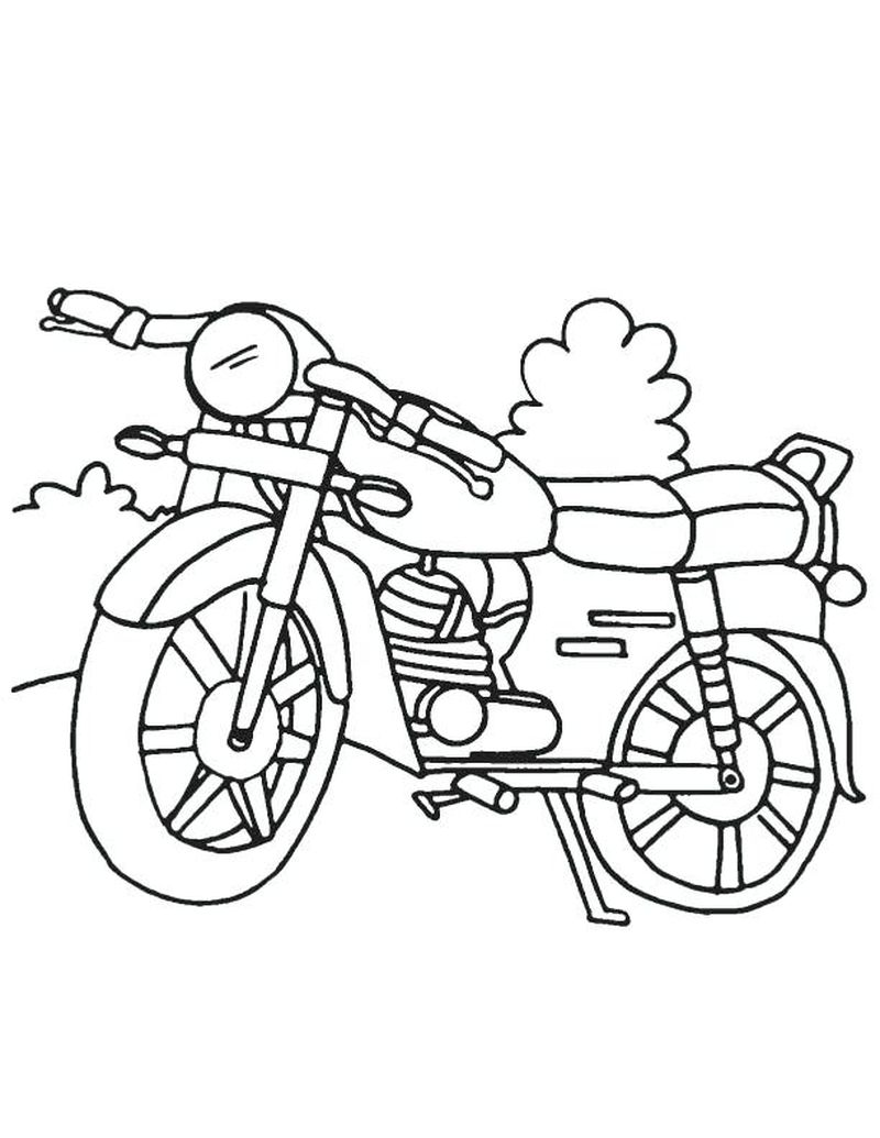 Motorcycle Coloring Pages To Print Out