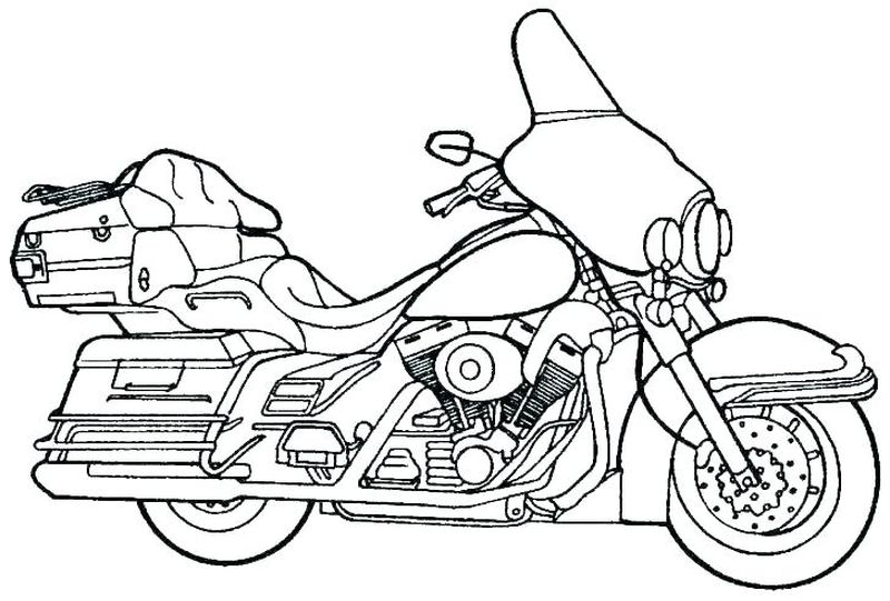 Motorcycle Coloring Pages To Print free