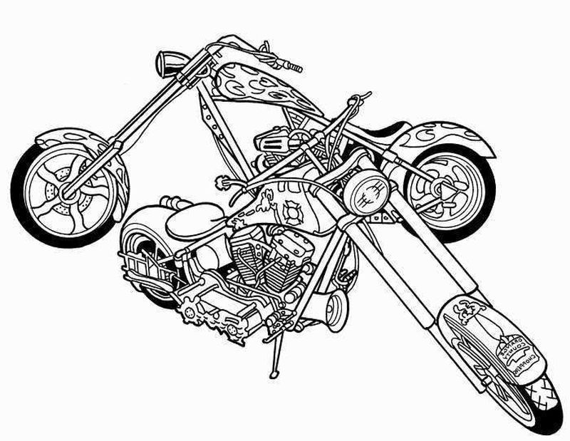 Motorcycle Coloring Pages Two