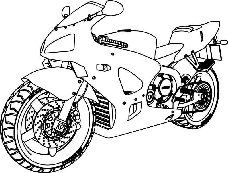 Motorcycle Coloring Pages Worksheets