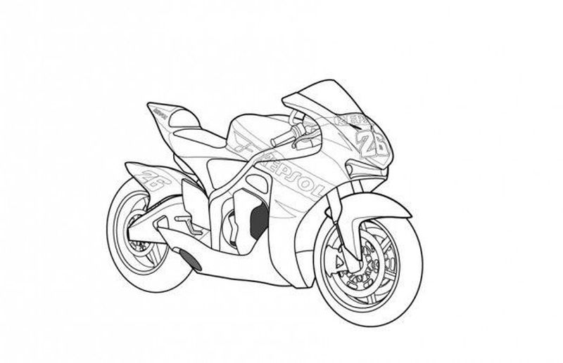 Motorcycle Coloring Pages Yamaha