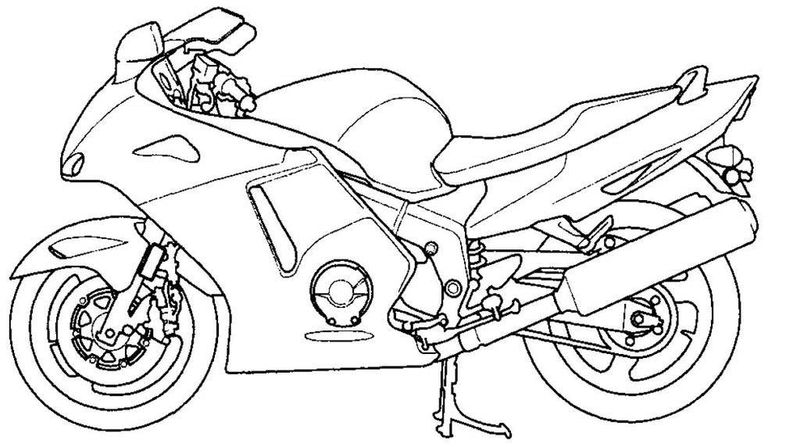 Motorcycle Helmet Coloring Pages free