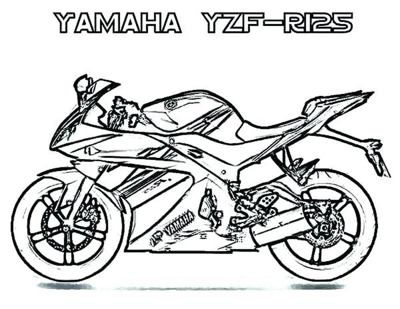 Motorcycle Printable Coloring Pages