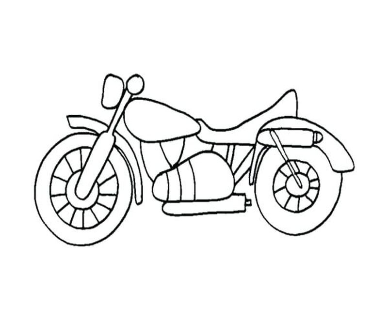 Mouse And Motorcycle Coloring Pages