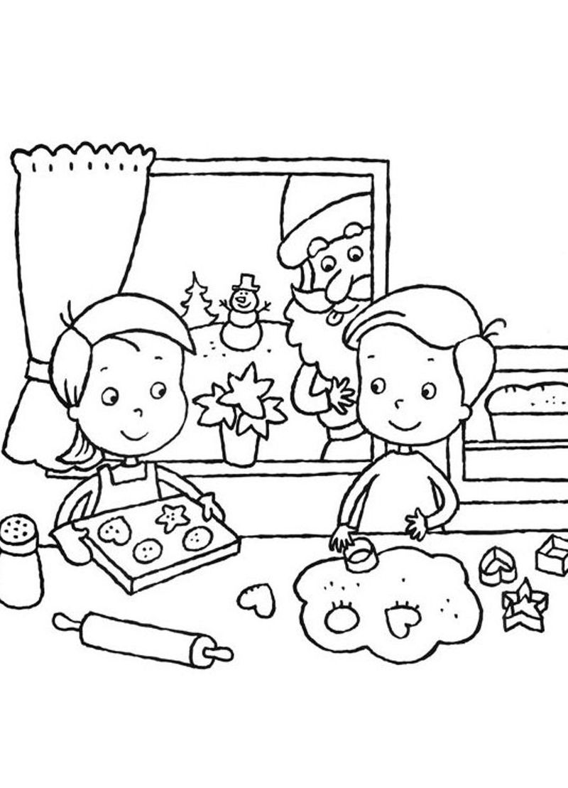 Mr And Mrs Santa Claus Coloring Page