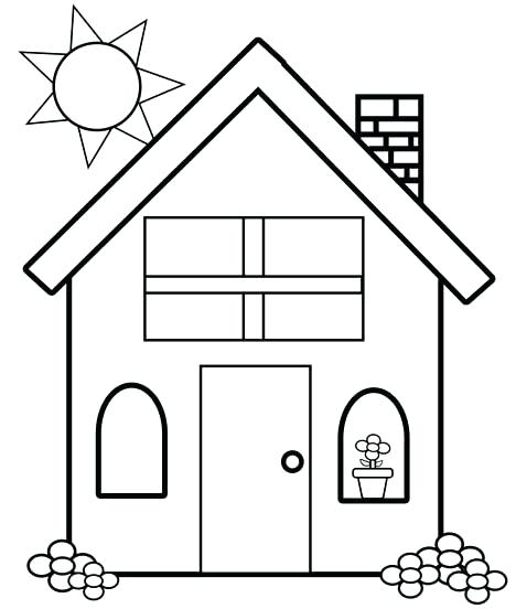My House Coloring Pages