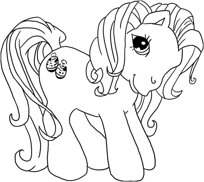 My Little Pony Coloring Page Rainbow Dash