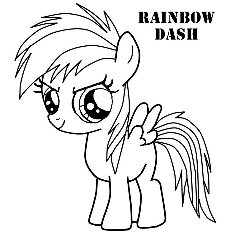 My Little Pony Coloring Pages Blank