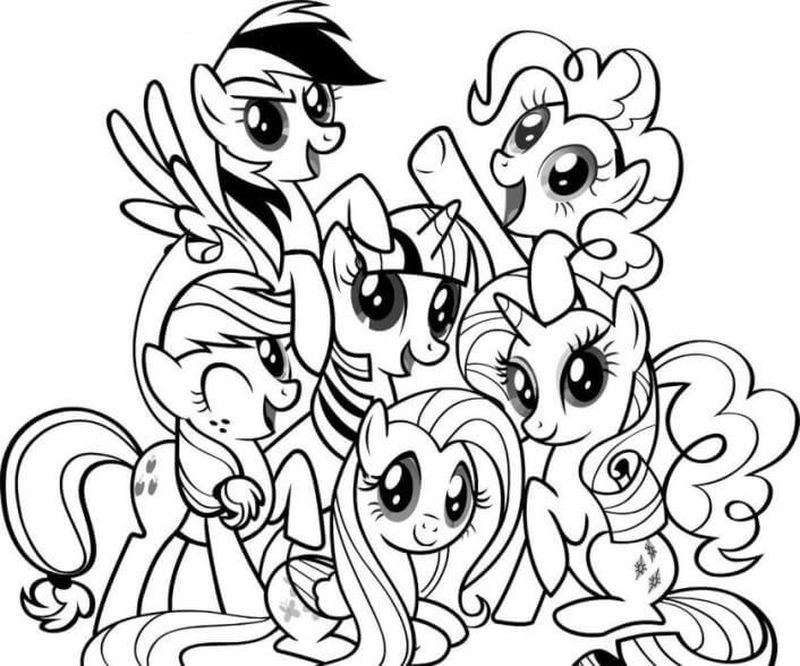 My Little Pony Coloring Pages Books