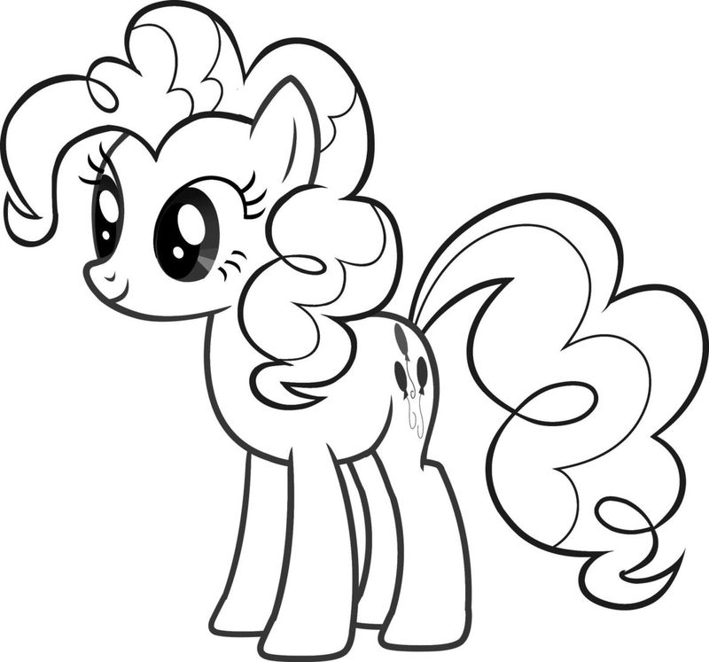 My Little Pony Coloring Pages Pinkie Pie