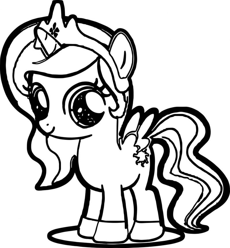 My Little Pony Coloring Pages Princess Cadence